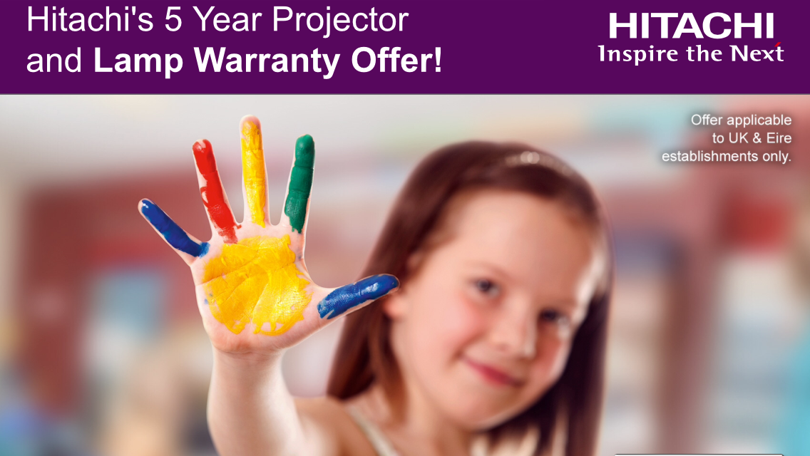 Hitachi 5 Year Projector and Lamp Warranty for Education