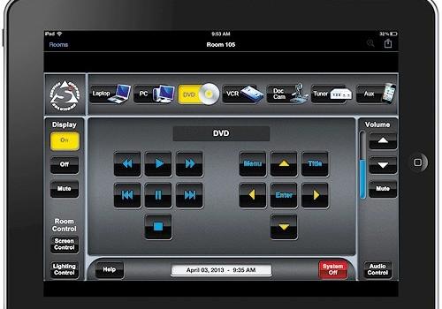 extron control panel