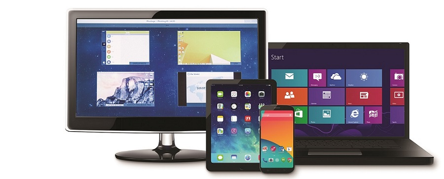 Multiple devices - show your device screens on the Clevertouch Pro with the included Montage software